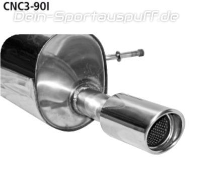 Bastuck Edelstahl Sportauspuff Citroen C3 u. DS3 Benziner 90mm rund eingerollt abgeschrägt mit Absorber