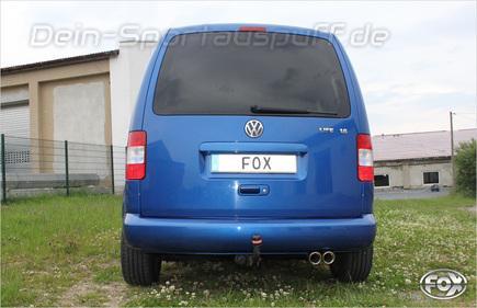 fox sportauspuff vw caddy 3 tdi 2x80 schr g mit absorber ebay. Black Bedroom Furniture Sets. Home Design Ideas