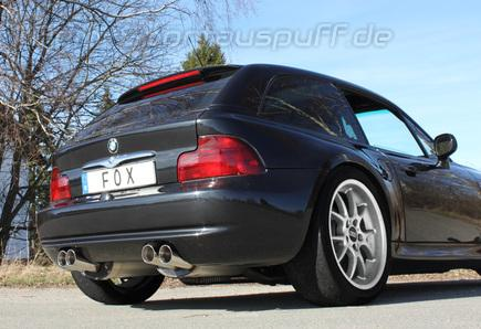 sportauspuffe sportauspuffanlagen f r bmw z3 roadster m. Black Bedroom Furniture Sets. Home Design Ideas