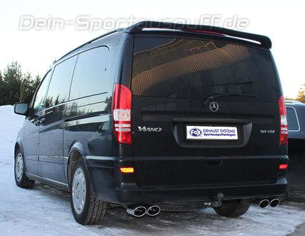 sportauspuffe sportauspuffanlagen f r mercedes benz viano w639 vito 122 cdi viano 3 0 cdi. Black Bedroom Furniture Sets. Home Design Ideas