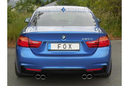 Fox edelstahl duplex sportauspuff bmw 4er f32 420d coupe for Bmw 4er gran coupe m paket