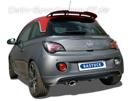 bastuck edelstahl racing komplettanlage ab kat opel adam s. Black Bedroom Furniture Sets. Home Design Ideas