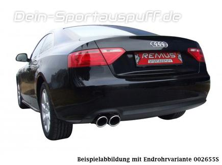 Remus Edelstahl Sportauspuff Audi A5 Typ 8T Coupe 1.8l TFSI inkl. Endrohren nach Wahl