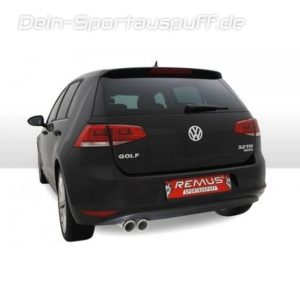 sportauspuffe sportauspuffanlagen remus f r vw golf 7 g nstig online kaufen auf dein. Black Bedroom Furniture Sets. Home Design Ideas