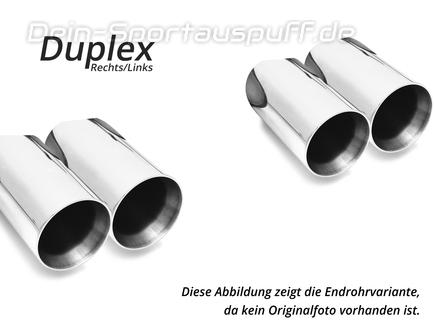 Fox Edelstahl Duplex Sportauspuff SuperSound-Version BMW 3er E92 E93 M3 Coupe/Cabrio je 2x90mm rund doppelwandig
