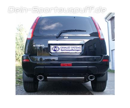 sportauspuffe sportauspuffanlagen f r nissan x trail typ t30 g nstig online kaufen auf dein. Black Bedroom Furniture Sets. Home Design Ideas