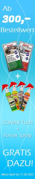 AKTION: ab 300,- Bestellwert bekommen Sie unser SONAX XTREME Lackpflege-Set GRATIS DAZU!