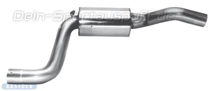 Bastuck Edelstahl Mittelschalldämpfer Mazda 121