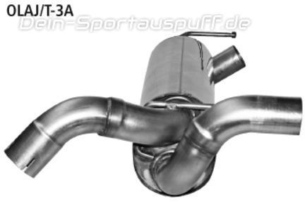 Bastuck Edelstahl Mittelschalldämpfer (für Duplex Anlagen) Opel Astra J Sports Tourer Turbo
