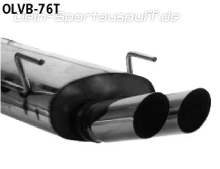 Auspuff Endschalldämpfer Opel Vectra B 2.5i V6