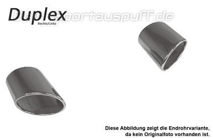 Fox Edelstahl Auspuff Endrohr anschweißbar 86x54mm oval Länge 200mm Typ 32
