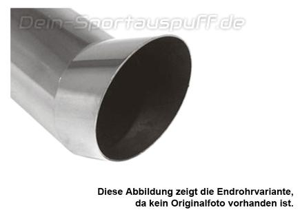 FOX Endrohr Edelstahl D:100mm L:400mm Typ 12