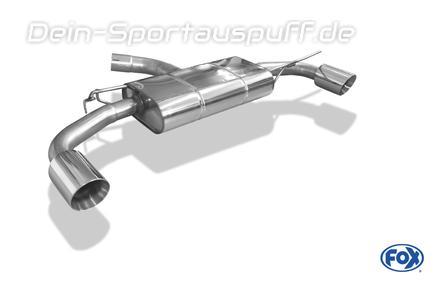 Fox Edelstahl Duplex Sportauspuff VW Golf 7 GTI je 100mm rund doppelwandig abgeschrägt