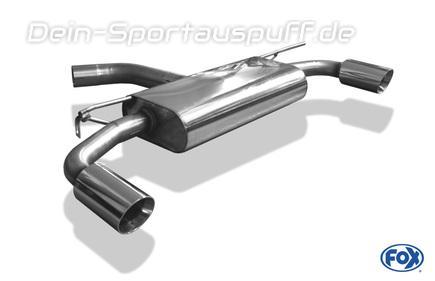 Fox Edelstahl Duplex Sportauspuff VW Golf 7 GTI je 90mm rund doppelwandig abgeschrägt