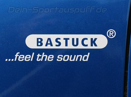 Bastuck Sportauspuff Autoaufkleber Sticker Decal Label in Weiss