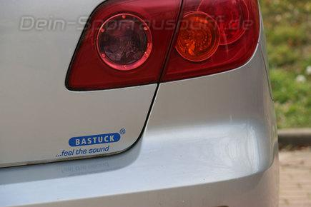 Bastuck Sportauspuff Autoaufkleber Sticker Decal Label in Blau
