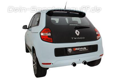 Remus Edelstahl Sportauspuff Mittig Renault Twingo 3 Ab 2014