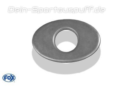 Fox Edelstahl Auspuff Endrohr Deckel anschweißbar 115x85mm oval Innendurchmesser: 55mm
