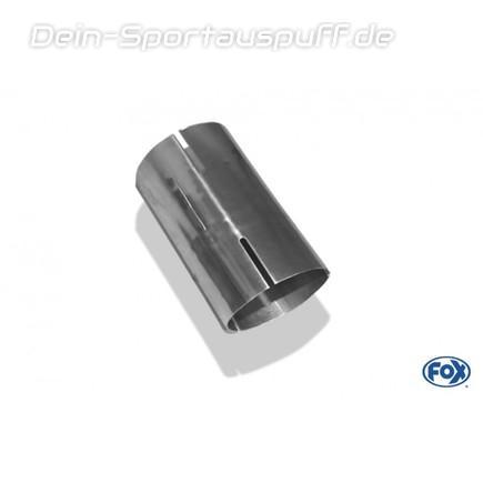 Edelstahl Doppelmuffe Rohr Adapter 76mm auf 70mm reduzierstück