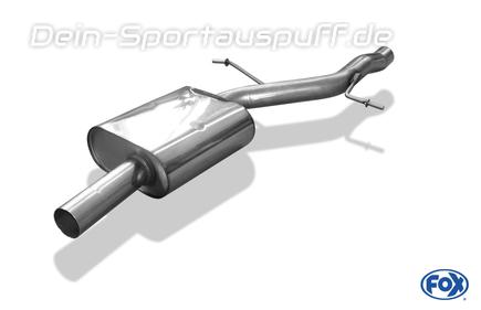 Fox Edelstahl Mittelschalldämpfer Audi A4 B8 8K Limousine/Avant & A5 B8 Coupe 2.0l TFSI