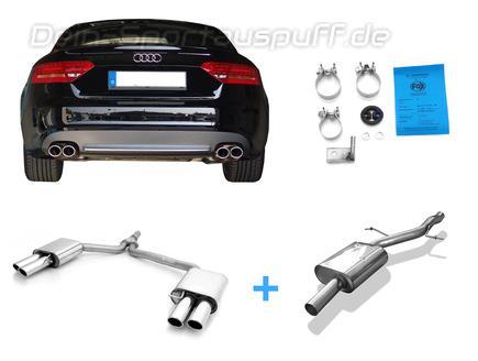 Fox MSD-Ersatzrohr Audi A4 B8 8K Limo Avant A5 B8 Coupe 2.0 TFSI