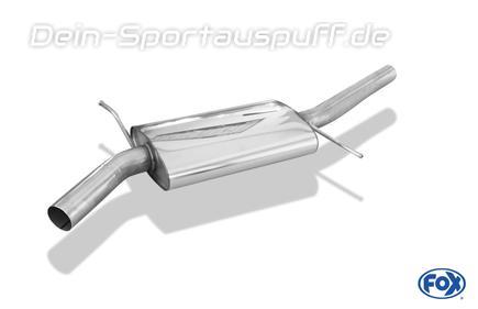 FOX Edelstahl Mittelschalldämpfer Audi A4 B9 8W 2.0 TFSI Quattro