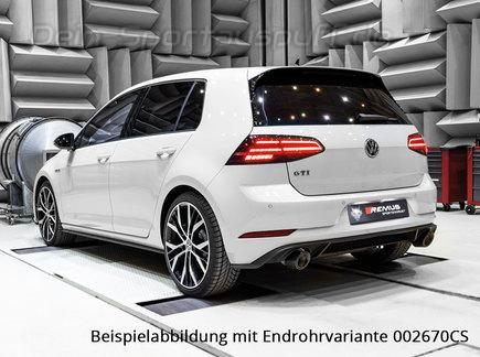 Remus Edelstahl Duplex Sportauspuff VW Golf 7 GTI Facelift inkl. Performance ab Bj. 2017 inkl. 1 Endrohr rechts+links nach Wahl