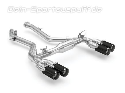 Eisenmann Edelstahl Duplex Sportauspuff RACE-Version BMW M2 Competition F87 je 2x90mm rund aus Carbon