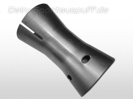Fox Edelstahl db-Killer zum Einstecken in ein Ø76mm Rohr