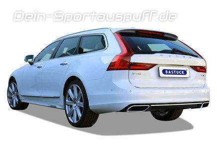 Bastuck Edelstahl Duplex Sportauspuff-Komplettanlage ab Kat mit Klappensteuerung Volvo V90 ab 2017 T5 T6 für originalen Endrohrausgang