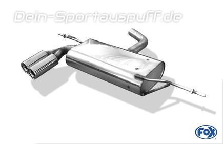 Fox Edelstahl Sportauspuff Audi A3 8p Sportback 2x76mm Rund