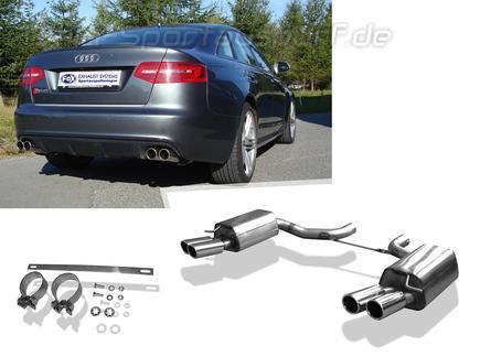 Fox Edelstahl Duplex Sportauspuff Audi Rs6 4f Typ C6 Limousine U