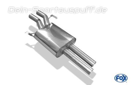 Fox Edelstahl Mittelschalldämpfer Audi A8 D2 Typ 4D