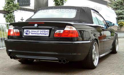 Fox Edelstahl Duplex Sportauspuff Bmw 3er E46 320d Limousinetouring