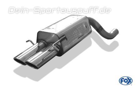 Mercedes C Klasse S203 T-Modell Stahl Endschalldämpfer Sportauspuff ESD mit EG