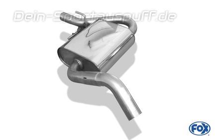 Fox Edelstahl Mittelschalldämpfer VW Golf 3 inkl. Cabrio