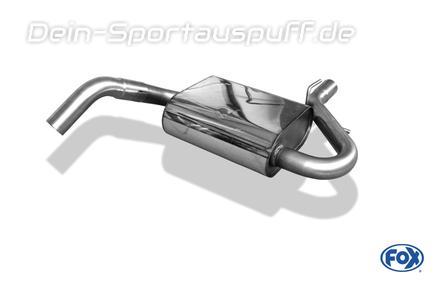 Fox Edelstahl Mittelschalldämpfer VW Golf 4 Cabriolet