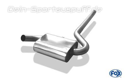 Fox Edelstahl Mittelschalldämpfer inkl. Rohr zum Kat (Ø63,5mm-System) VW Corrado G60