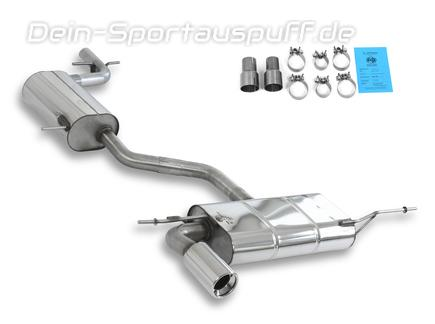 Sportauspuffe Sportauspuffanlagen Fur Audi A3 8p Sportback 2 0 Fsi