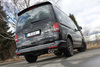 Fox Edelstahl Racing-Komplettanlage ab Kat VW T5 4motion Caravelle Kombi Multivan 2x88x74mm oval eingerollt abgeschrägt - Abb. 2
