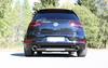 Fox Edelstahl Duplex Sportauspuff-Komplettanlage ab Kat VW Golf 7 GTI 245 je 114mm rund doppelwandig abgeschrägt - Abb. 2