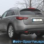 Infiniti FX30d Edelstahl Sport-Auspuffanlage