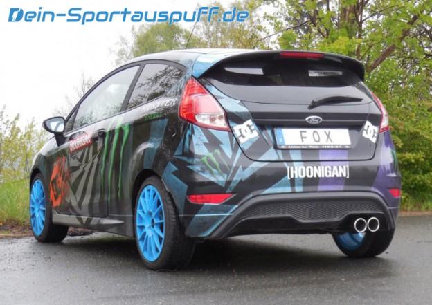 Sportauspuff Ford Fiesta MK7 JA8 2x90mm von FOX
