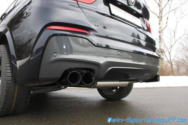 BMW X4 F26 Sportendschalldämpfer von Fox (schwarze Endrohre)