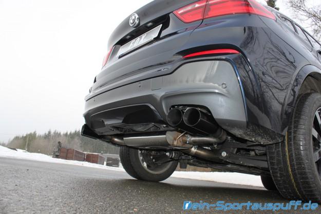 Fox Endschalldämpfer für BMW X4 F26 mit den schwarzen Endrohren